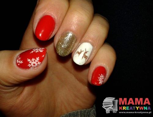 Świąteczne paznokcie Semilac
