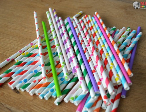 Papierowe słomki – prace plastyczne