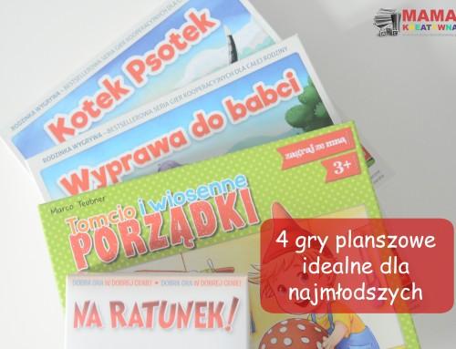 4 gry planszowe dla najmłodszych