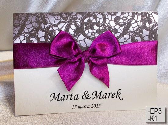 zaproszenia ślubne inspiracje