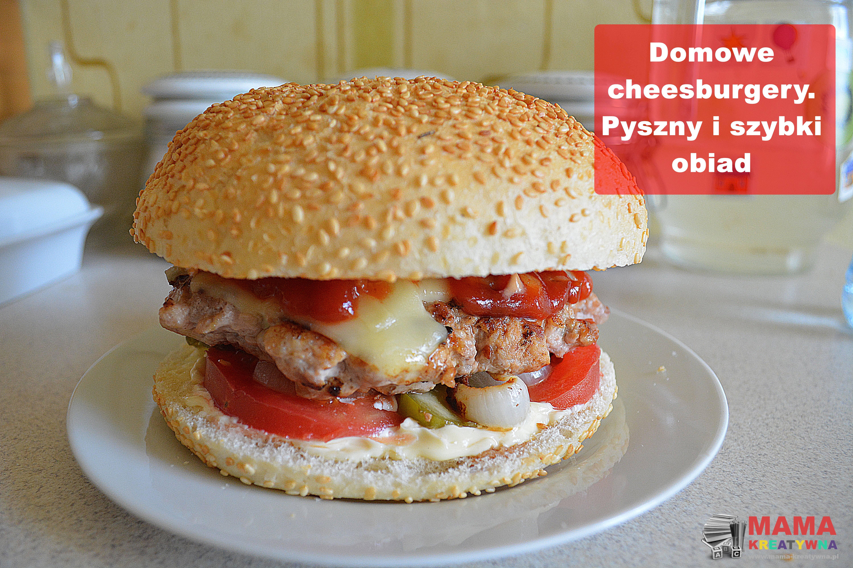 Domowe cheesburgery z grilla